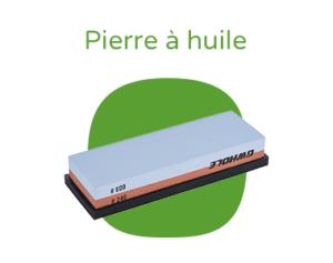 """Pierre à huile pour aiguiser avec le texte """"Pierre à huile"""""""
