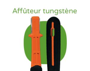 """Aiguiseur en tungstène bahco avec le texte """"Affûteur tungstène"""""""